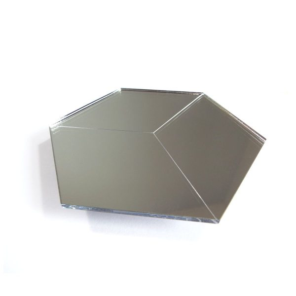 Miroir design hexagones acrylique PMMA securit made in France decoupe laser atelier thorey