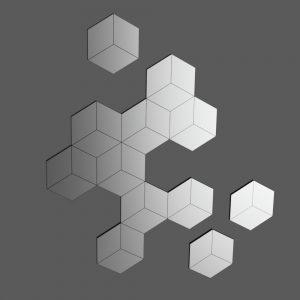Miroir hexagones