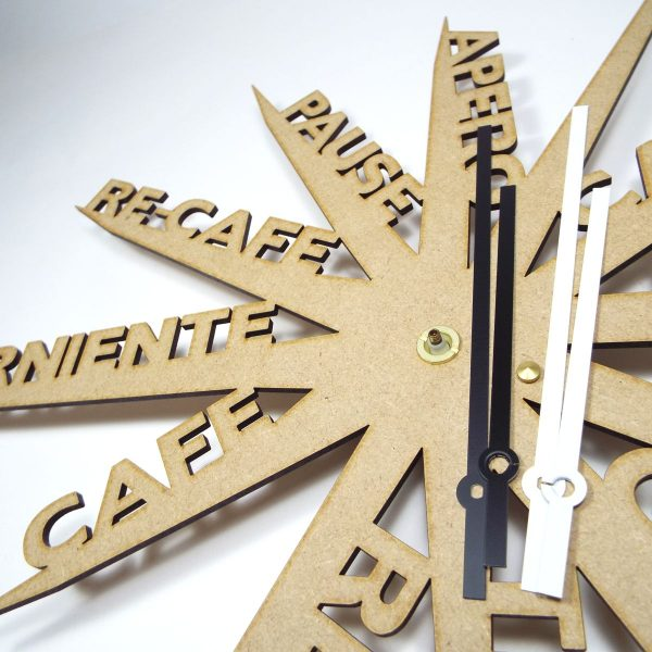 Horloge design farniente bois - Atelier Thorey - decoupe laser - made in France