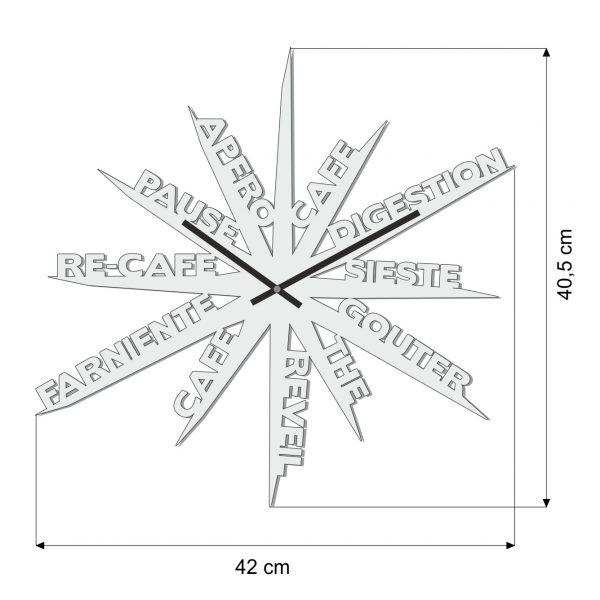 Dimensions Horloge murale noire farniente made in France originale