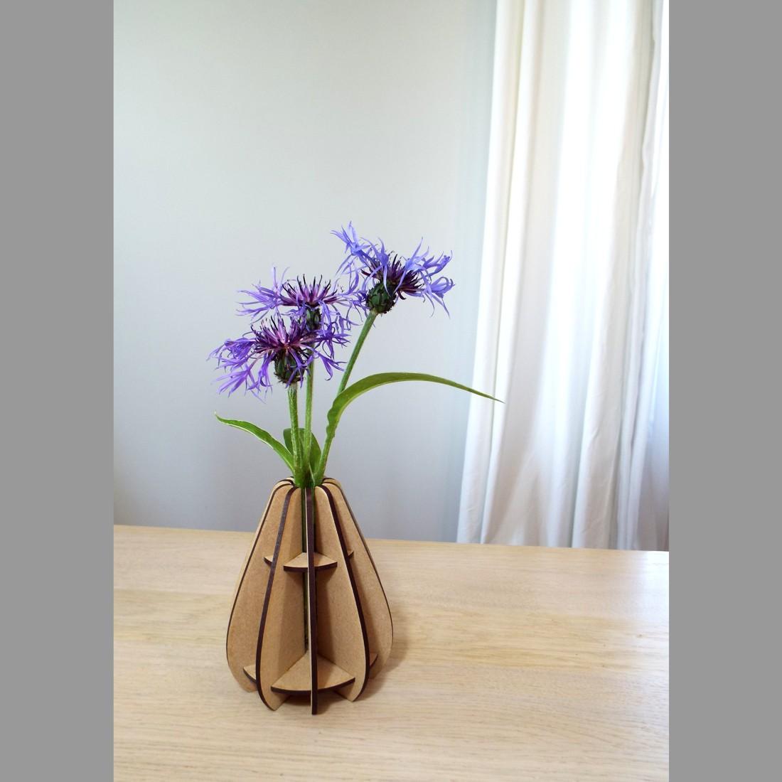 Mini vase Goutte en bois - atelier thorey made in france