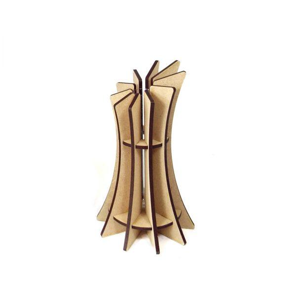 Vase mini slicy design made in france atelier thorey MDF bois verre fleurs découpe laser
