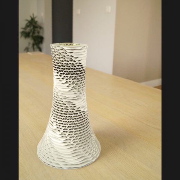 Grand vase Envol carton blanc