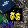 Boucles d'oreilles jaune safran ananas