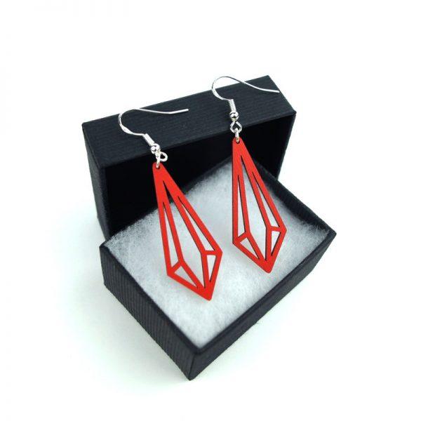 Boucles d'oreilles Pampille rouges