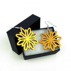 Boucles d'oreille Fleur Mandala or