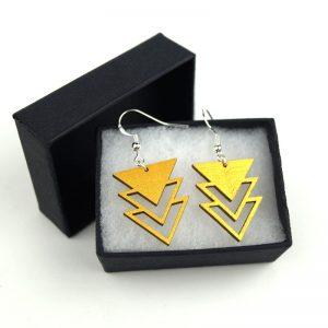 Boucles d'oreilles géométriques triangle