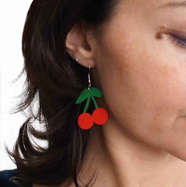 Boucles d'oreilles cerises
