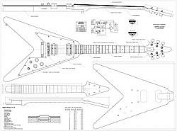 Plan de guitare Electrique flying