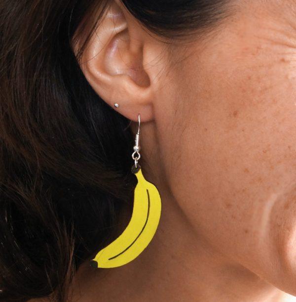 Boucles d'oreilles bananes