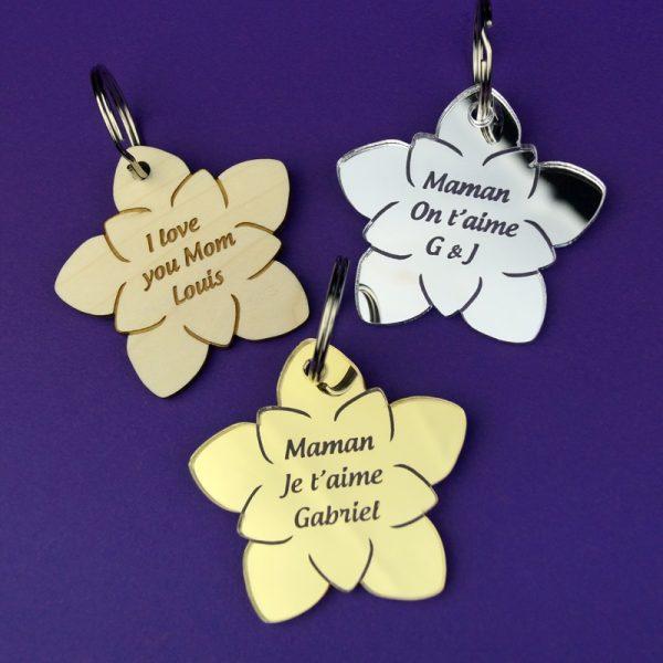 Porte-clés personnalisé cadeau fête des mères
