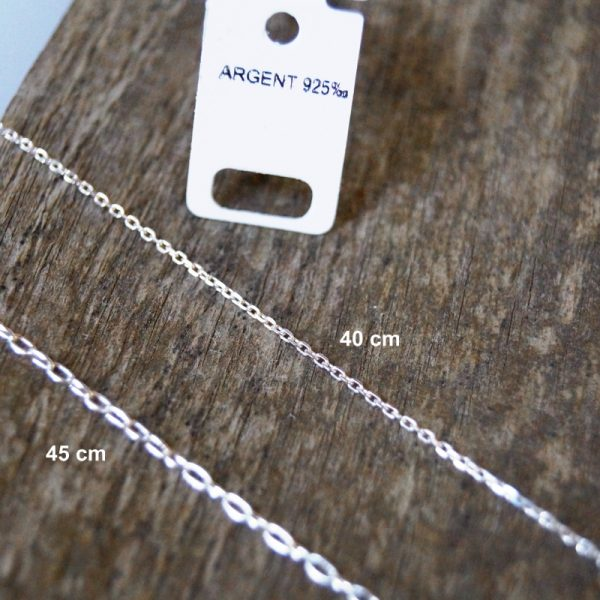 Collier argent pendentif bois texte personnalisé