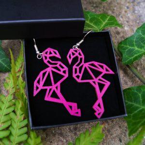 Boucles d'oreilles flamants roses