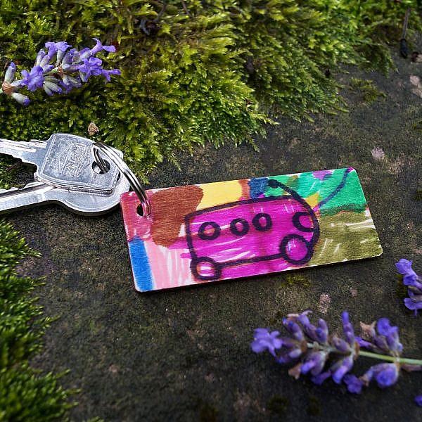 Porte-clés bois personnalisé cadeau maîtresse