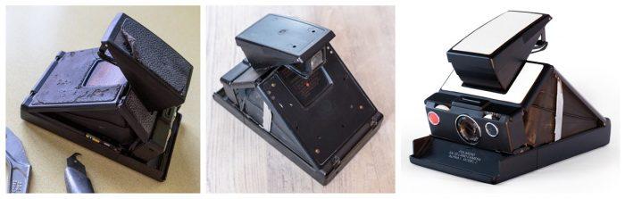 Etapes de rénovation appareil photo polaroid