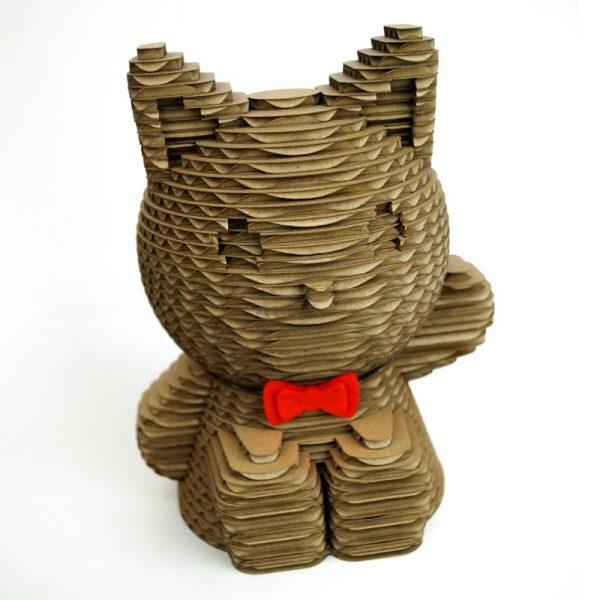 Tirelire enfant chat en carton personnalisable
