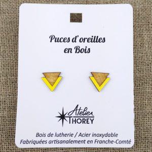 Puces triangles gravé sur jaune