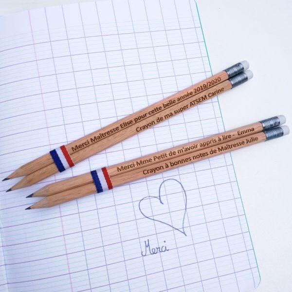 Crayon de papier à personnaliser cadeau maîtresse fête des pères